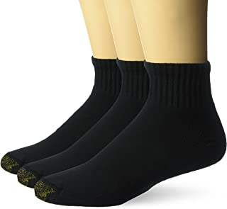 Gold Toe mens Ultra Tec Performance Quarter Athletic Socks, 3-pack Socks