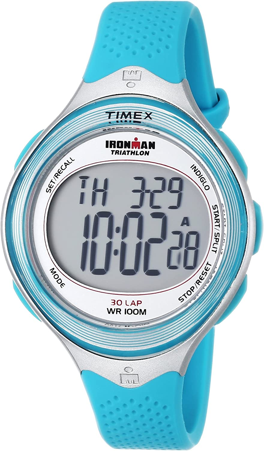 Timex Women's It is very popular T5K602 Ironman Rare Classic Mid-Size Silver-Ton 30 Blue