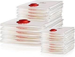 Blumtal 20er Set Vakuumbeutel Kleidung - Vakuum Aufbewahrungsbeutel für Bettdecken, bis zu 90% Platzersparnis mit Staubsauger