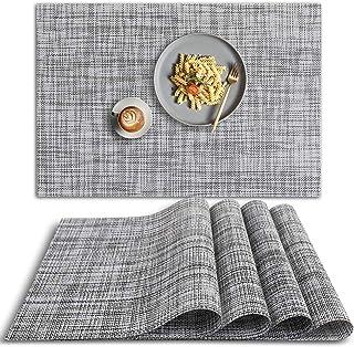 Sets de Table Lavables Antid/érapants et R/ésistants /À La Chaleur pour Table de Cuisine. Lot de 6 Sets de Table en PVC pour D/îners ALLONWAY Sets de Table
