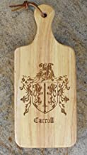 Carroll Family Coat of Arms Cutting Board With Handle 13