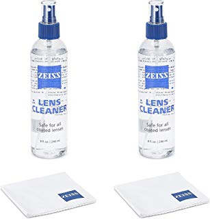 Zeiss Lens Care Pack - 2 - 8 Ounce Bottles of Lens Cleaner, 2 Microfiber Cleaning Cloths