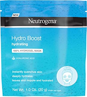 Neutrogena Hydro Boost Moisturizing & Hydrating 100% Hydrogel Sheet Mask, Face Mask for Dry Skin with Hyaluronic Acid, Gen...