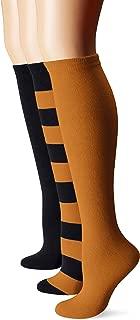 Muk Luks Women's Game Day Sport Mid-Calf Socks (Pack of Three Pairs)