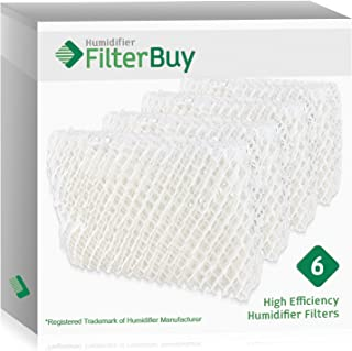 FilterBuy Humidifier Filter Compatible with/Replacement for Emerson HDC-2R & HDC-411, Sears 14909 & 14912 Humidifiers. Pack of 6 Filters.