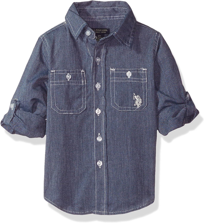 U.S. Polo Assn. Boys' Long Sleeve Solid Shirt