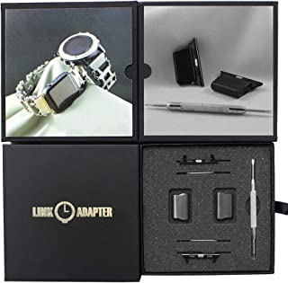 Link- watch adapter compatible with LEATHERMAN TREAD - Black (compatible with Apple watch 44mm/ 42mm, Black, TREAD)