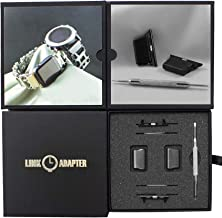 Link- watch adapter compatible with LEATHERMAN TREAD LT - Black (compatible with Apple watch 44mm/ 42mm, Black, TREAD LT)