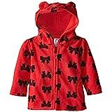 Amazon Com Bonnie Baby Baby Girls Bonaz Trim Fleece Coat