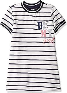 DKNY Girls' Striped T-Shirt Dress
