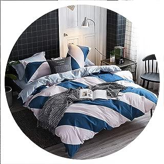 retro store Home Textile Cyan Cute Cat Kitty Duvet Cover Pillow Case Bed Sheet Boy Kid Teen Girl Bedding Linens Set King Queen Twin,11,Full Cover 180X220cm,Flat Bed Sheet