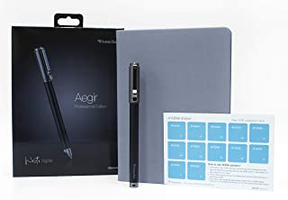Livescribe APX-00E39 Aegir Smartpen, Black Dolphin Professional Edition Bundle - Includes A5 Sized Executive Lined Journal, Additional Ink Refill and ADNA Stickers