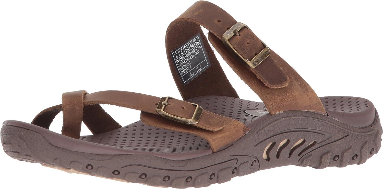 Skechers Woherren Woherren Woherren Reggae-Carribean-Double Buckle Toe Thong Slide Sandal, Desert Crazyhorse, 7 M US 6ba