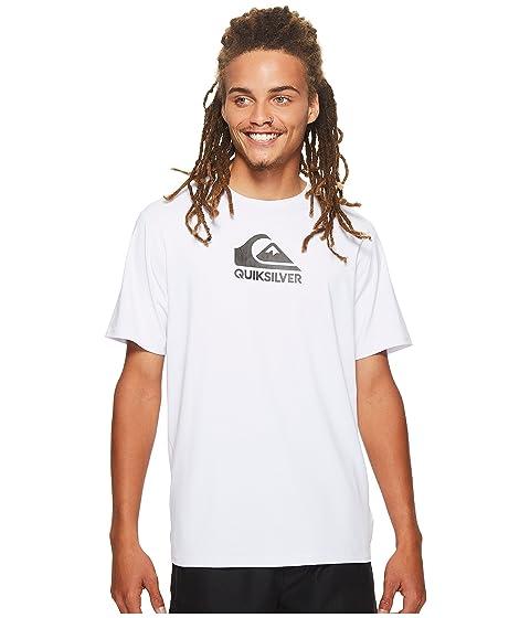 Quiksilver Shorts Solid Streak Short Sleeve Rashguard, WHITE