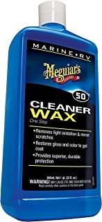 Meguiar's M5032 Marine/RV One Step Cleaner Wax, 32 fl oz