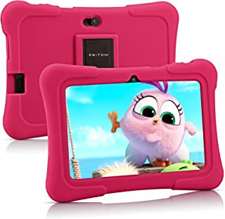 Pritom 7 inch Kids Tablet   Quad Core Android 10.0, 16GB ROM   WiFi,Bluetooth,Dual Camera   Educational,Games,Parental Con...