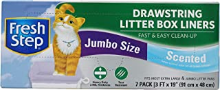 "Fresh Step Drawstring Cat Litter Box Liners, Scented, Jumbo Size, 36"" x 19"" - 7 Count 