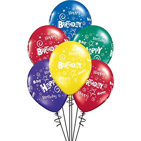 """TOUT SIMPLEMENT HEUREUX ANNIVERSAIRE BRILLANT Pastel Assortiment 11/"""" Qualatex Latex Ballons"""