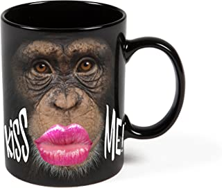 BigMouth Inc Color Changing Monkey Mystery Mug, Holds 16z, Changes When Hot or Cold, Ceramic Coffee Cup, Novelty Mug