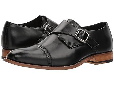 Stacy Adams Desmond Cap-Toe Monk-Strap Loafer (Black) Men