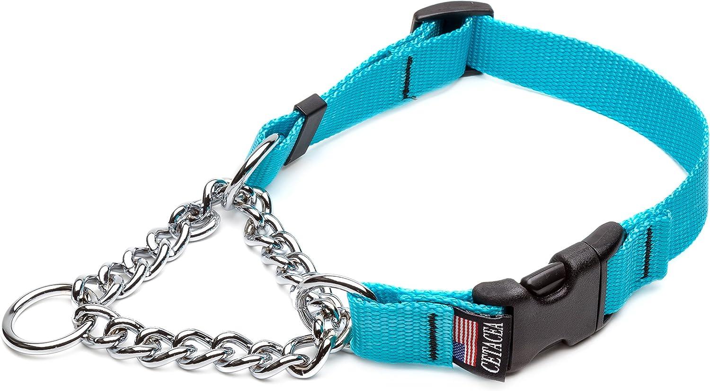 Cetacea Chain Martingale Dog Pet Collar with Quick Release Super Rapid rise sale