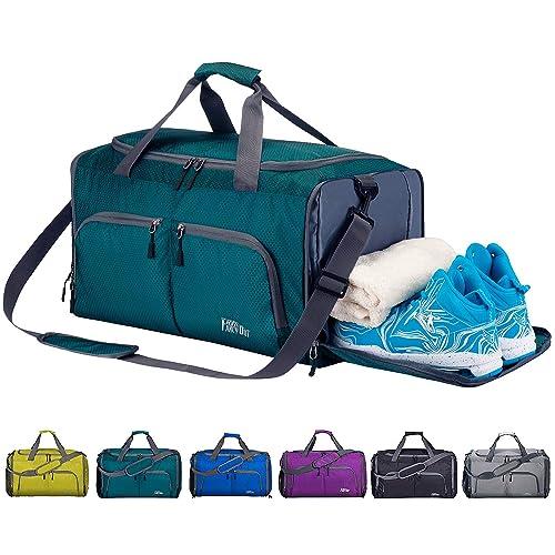 e248c6bfec FANCYOUT Sports Gym Bag with Shoes Compartment & Wet Pocket, Travel Duffel  Bag for Men