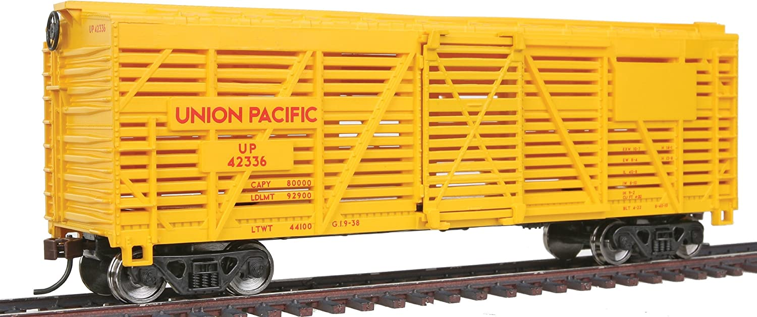 Walthers Trainline 40' Stock Car with Metal Wheels Ready to Run Union Pacific
