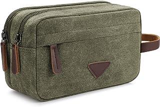 ae5bafe8f6c8 Men s Travel Toiletry Organizer Bag Canvas Shaving Dopp Kit TSA Approved  (Army Green-2