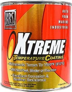 KBS Coatings 65406 Rocket Red Xtreme Temperature Coating - 1 Quart