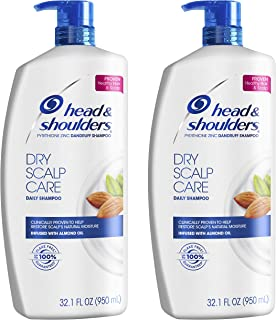 Head and Shoulders Shampoo, Anti Dandruff Treatment, Dry Scalp Care, 32.1 fl oz, Twin Pack