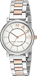 Marc Jacobs Womens Quartz Watch, Analog Display and Stainless Steel Strap MJ3553
