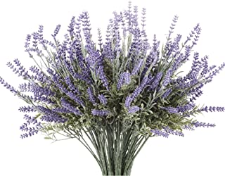 Butterfly Craze Artificial Lavender Plant with Silk Flowers for Wedding Decor and Table..