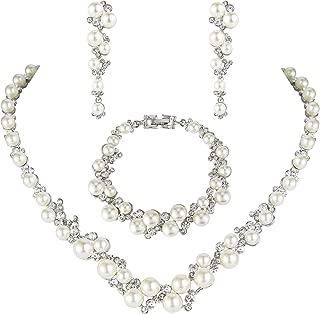 Best simple pearl jewellery sets Reviews