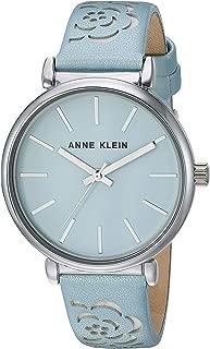 Anne Klein Women's Floral Leather Strap Watch
