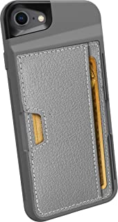 Smartish iPhone 7/8 Wallet Case - Wallet Slayer Vol. 2 [Slim Protective Kickstand] Credit Card Holder for Apple iPhone 8/7 (Silk) - Gunmetal Gray