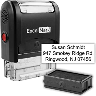 Custom Self Inking Rubber Stamp - 3 Lines (42A1539) (Custom Stamp with Additional Replacement Stamp Pad)