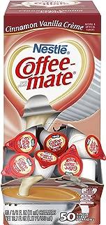 Nestle Coffee-mate Coffee Creamer, Cinnamon Vanilla Creme, 0.375oz liquid creamer singles, 50 count