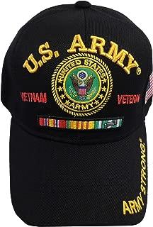 Men's U.S. Army Vietnam Veteran Hat Military Baseball Cap