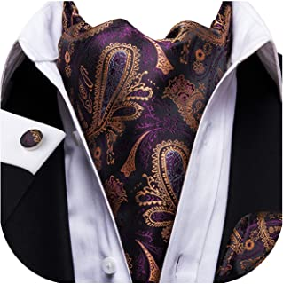 Dubulle Cravat Ties for Men with Pocket Square and Cufflinks Ascot and Handkerchief Set