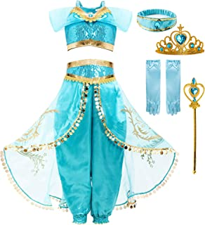 FUNNA Costume for Girls Princess Kids Dress Up Outfit Party Supplies
