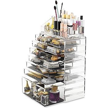 READAEER Organizador de Maquillaje con 12 Niveles Ajustables, Caja de Almacenamiento Multi-Funcional (Transparente): Amazon.es: Hogar