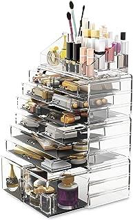 Readaeer Lot de 4 boîtes de rangement en acrylique avec tiroirs de différentes tailles, convient pour chambre à coucher et...