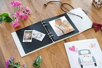 Premium Quality Leather Photo Album Book | Dust-Free Guestbook & Album | Prefect for Birthday Anniversary Day | DIY Photo ...