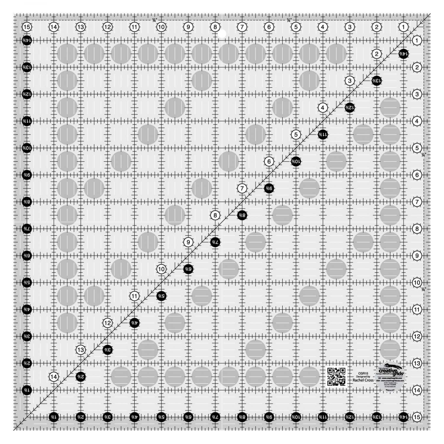 Creative Grids Quilt Ruler 15-1/2in Square - CGR15