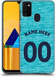 Custom Customized Personalized Newcastle United FC NUFC Third Kit 2018/19 Crest Hard Back Case Compatible for Samsung Galaxy M30s (2019)