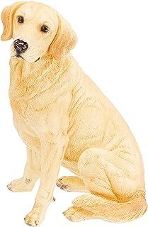 Design Toscano Golden Labrador Retriever Dog Garden Statue, 15 Inch, Full Color