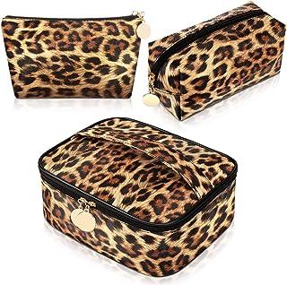 3 قطعه چاپ پلنگی مجموعه لوازم آرایشی کیف دستی یوزپلنگی لوازم آرایش مسافرتی کیف دستی آرایش قابل حمل کیف دستی کیف دستی کیف دستی زنانه