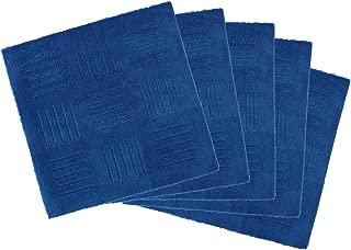 オカ ピタッと吸着! ジョイントキッチンマット ピタプラス ブリック 約60×60cm(5枚組) ブルー