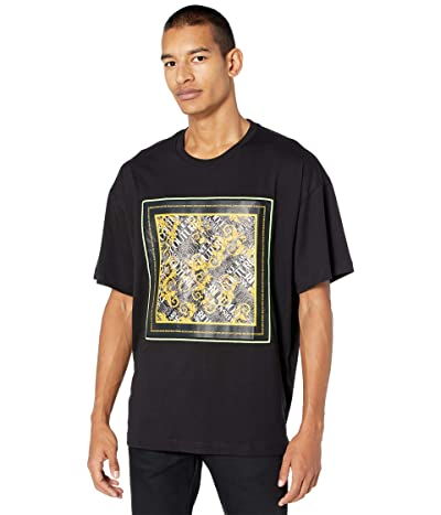 Versace Jeans Couture Big Fit Scarf Print T-Shirt (Black/Gold) Men