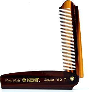 Kent the Hand Made Fine Cut 4 Inches Folding Pocket Comb 82T for Men
